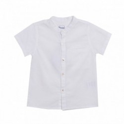 Camisa cuello mao liso lino - Newness - JBV98301