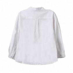 Camisa cuello mao m/larga blanca lisa