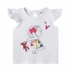 Camiseta niña con muñeco osito - Newness - BGV69566