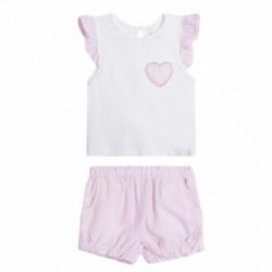 Conjunto camiseta corazón y pantalón cuadritos - Newness - NGV99656