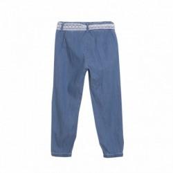 Pantalón largo vaquero con cinturon de encaje - Newness - JGV58711