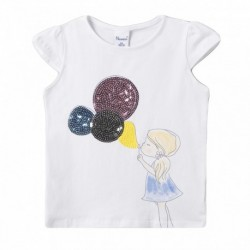 Camiseta niña soplando globos - Newness - JGV69864