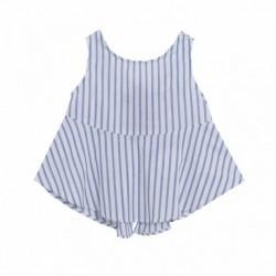 Blusa sin manga rayas azules