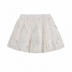Falda plisada con hilos plateados - Newness - JGV98761