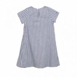 Vestido popelín rayas azules - Newness - KGV98904