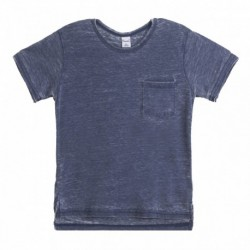 Camiseta estampada esquí acuatico con bosillo color marino