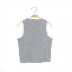 Camiseta sin mangas con botones - Newness - KGV-MDP68001A