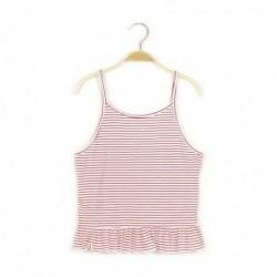 Camiseta de tirantes de rayas claras - Newness - KGV-MDP68003B