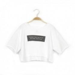 Camiseta manga corta mensaje - Newness - KGV-MDP68006