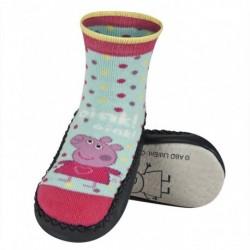 Calcetines suela de cuero PEPPA PIG