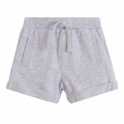 Pantalon corto rizo algodón con cordón cintura - Newness - BBV78090