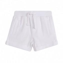 Pantalon corto rizo algodón con cordón cintura - Newness - BBV78091