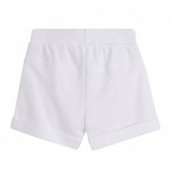 Pantalon corto rizo algodón con cordón cintura